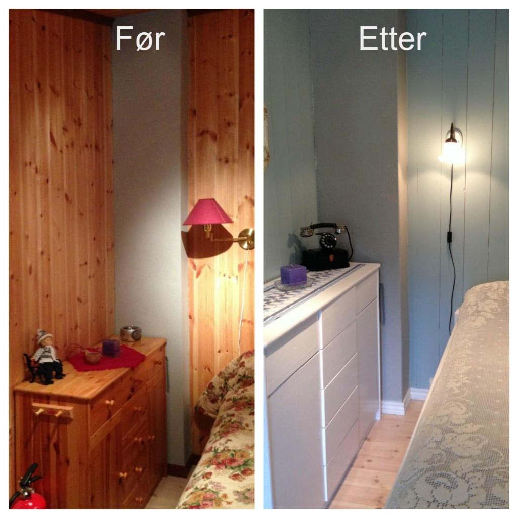 før og etter soverom