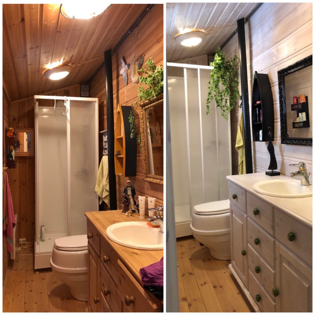før og etter baderom